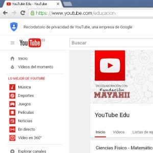 Canal youtube edu