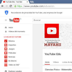 Canal youtube edu