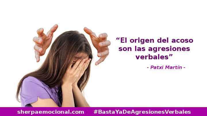 """""""El origen del acoso son las agresiones verbales"""" Frase de Patxi Martin"""